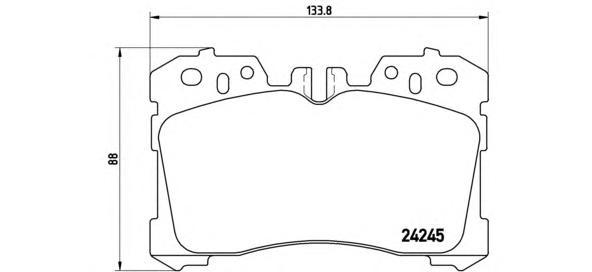 Колодки тормозные дисковые Brembo, передние, комплект. P83075P83075