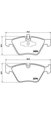 Колодки тормозные дисковые Brembo, передние, комплект. P06040P06040