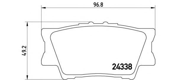 Комплект тормозных колодок Brembo, задние, комплект. P83089P83089