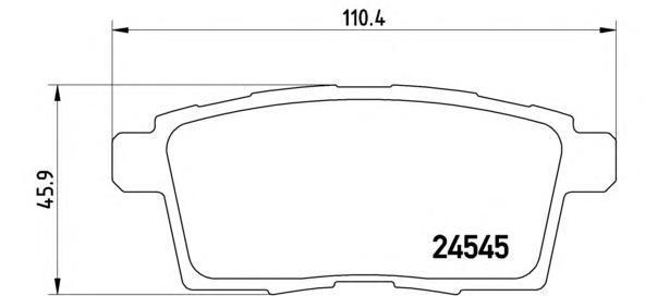 Комплект тормозных колодок Brembo, задние, комплект. P49041P49041