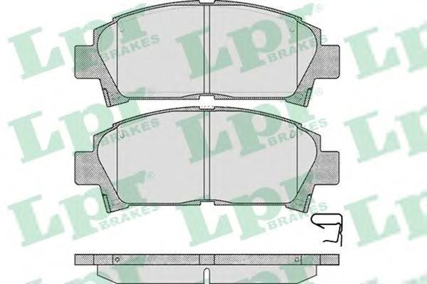 Колодки тормозные дисковые LPR / AP. 05P57305P573