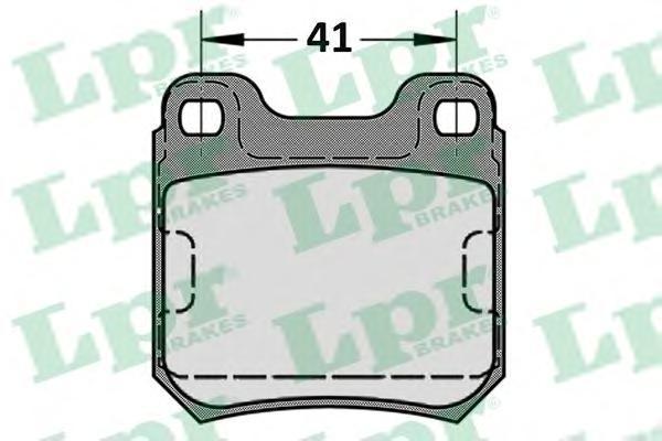 Колодки тормозные дисковые LPR / AP. 05P58405P584