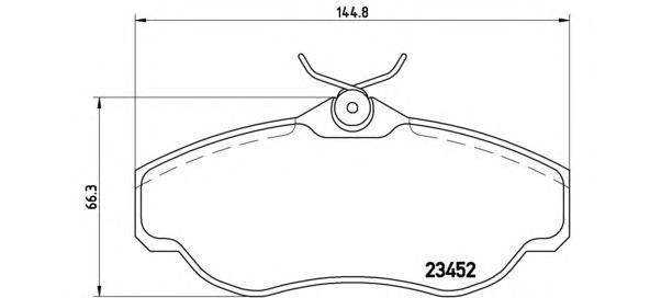 Колодки тормозные дисковые Brembo, передние. P44008P44008