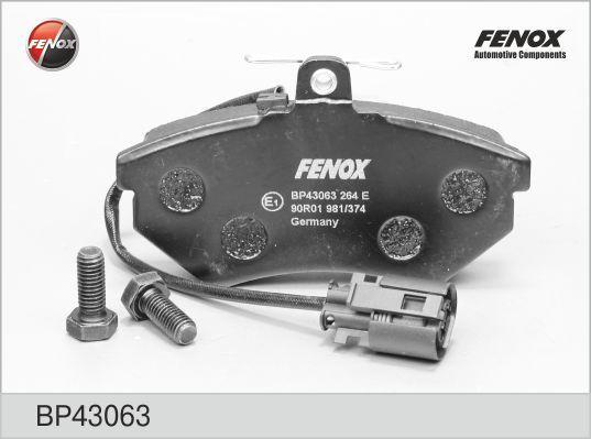 Колодки тормозные дисковые Fenox. BP43063BP43063