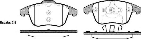 Колодки тормозные дисковые Remsa, комплект. 124900124900