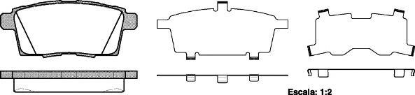Колодки тормозные дисковые Remsa, комплект. 126800126800