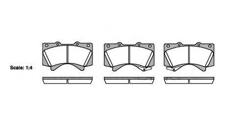 Колодки тормозные дисковые Remsa, комплект. 127102127102