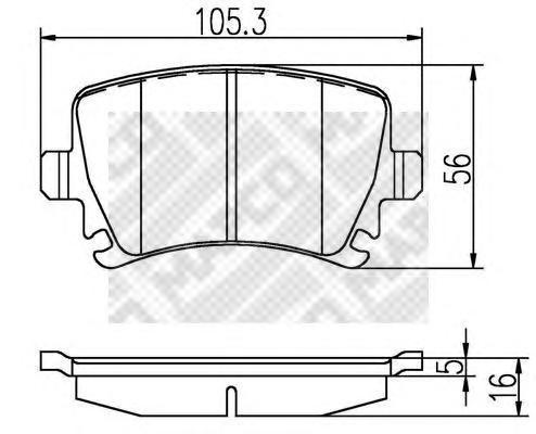 Колодки тормозные дисковые Mapco, комплект. 66966696