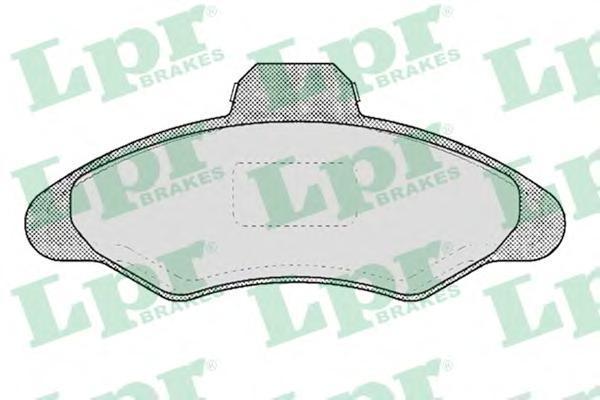 Колодки тормозные дисковые LPR / AP. 05P38305P383