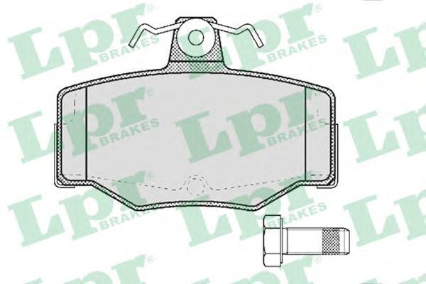 Колодки тормозные дисковые LPR / AP. 05P38705P387