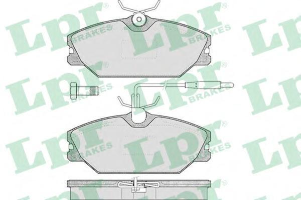 Колодки тормозные дисковые LPR / AP. 05P44505P445