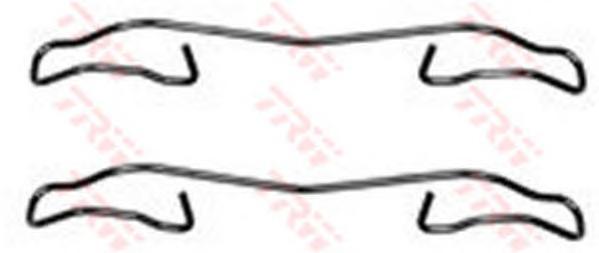 Комплект монтажный TRW, для тормозных колодок. PFK347PFK347