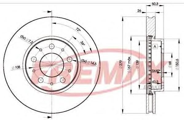 Диск тормозной Fremax, 2 шт. BD-1788BD-1788