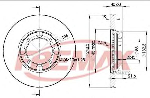 Диск тормозной Fremax, 2 шт. BD-2135BD-2135