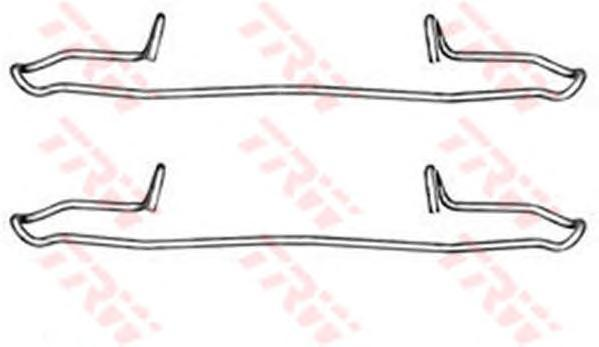 Комплект монтажный TRW, для тормозных колодок. PFK349PFK349