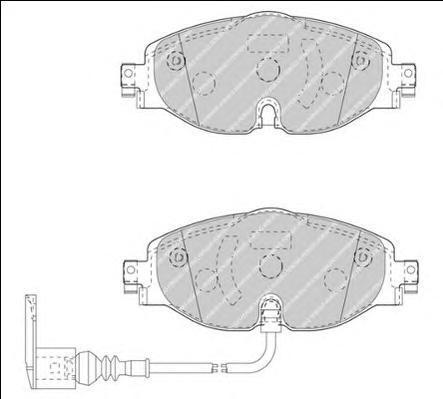 Колодки тормозные дисковые Ferodo, комплект. FDB4433FDB4433