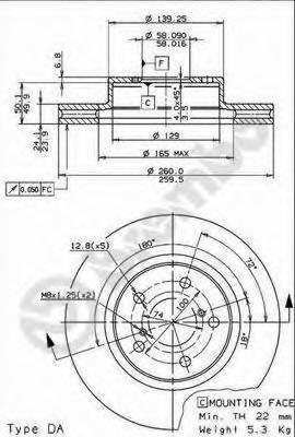 Диск тормозной Brembo, передний, 2 шт. 09.5673.1409.5673.14