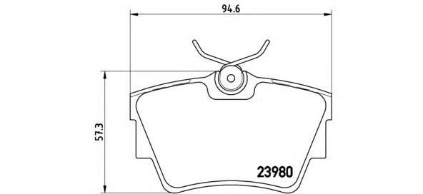 Колодки тормозные дисковые Brembo, комплект. P59041P59041