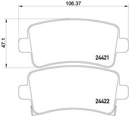Колодки тормозные дисковые Textar, задние. 24421012442101