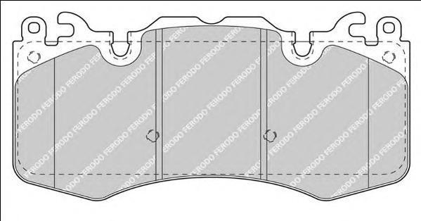 Колодки тормозные дисковые Ferodo Premier. FDB4379FDB4379