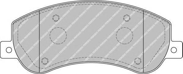 Колодки тормозные дисковые Ferodo Premier. FVR1928FVR1928