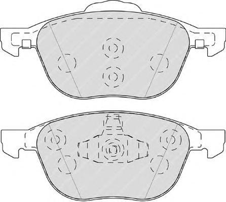 Колодки тормозные дисковые Ferodo Premier. FDB4319FDB4319