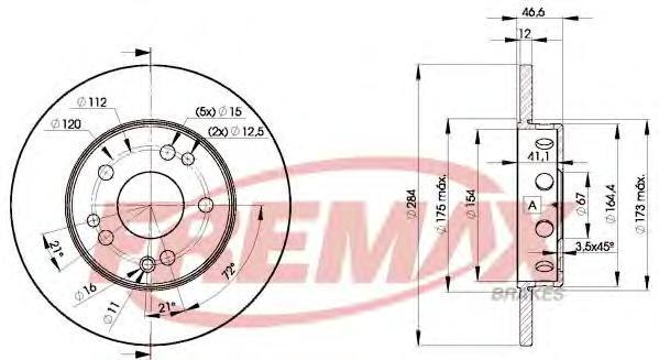 Диск тормозной Fremax, 2 шт. BD-7210BD-7210