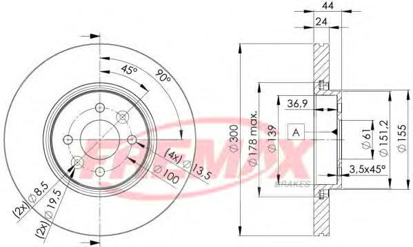 Диск тормозной Fremax, 2 шт. BD-7897BD-7897