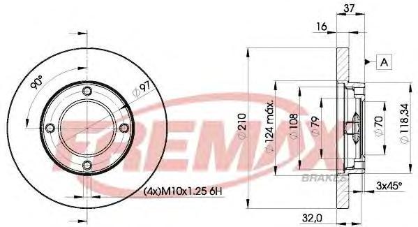 Диск тормозной Fremax, 2 шт. BD-8702BD-8702