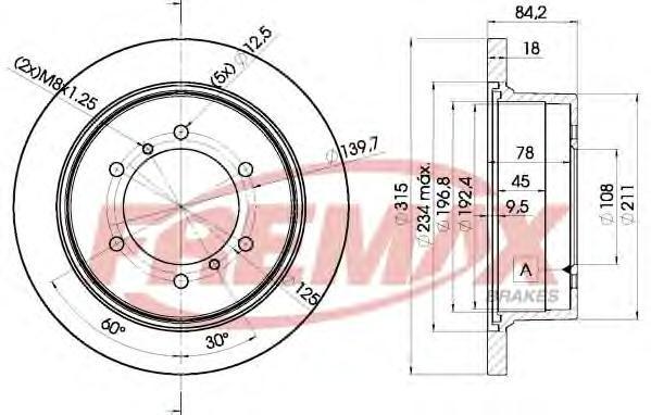 Диск тормозной Fremax, 2 шт. BD-8797BD-8797