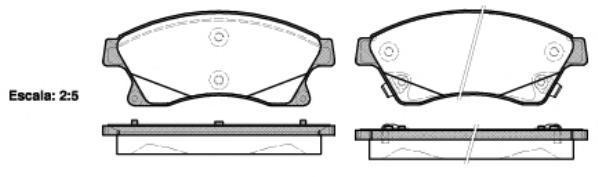 Колодки тормозные дисковые Remsa, комплект. 143112143112