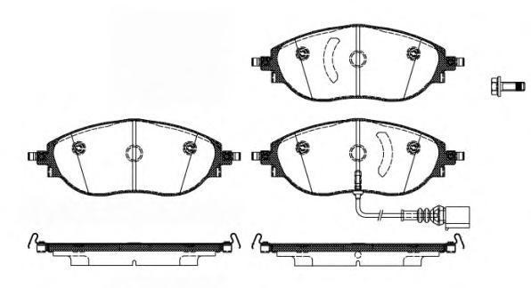 Колодки тормозные дисковые Remsa, комплект. 147001147001