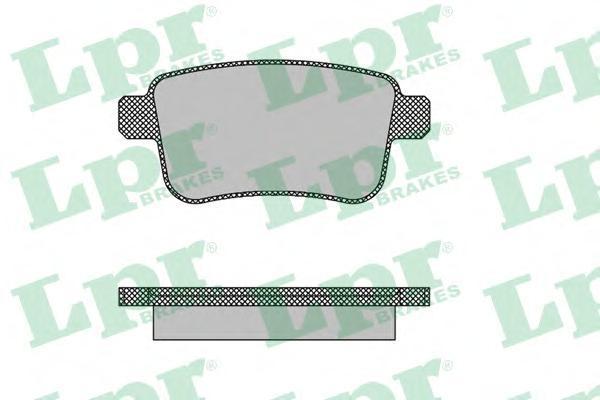 Колодки тормозные дисковые LPR / AP, комплект. 05P148705P1487