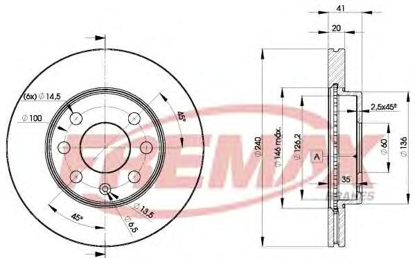 Диск тормозной Fremax, 2 шт. BD-9021BD-9021
