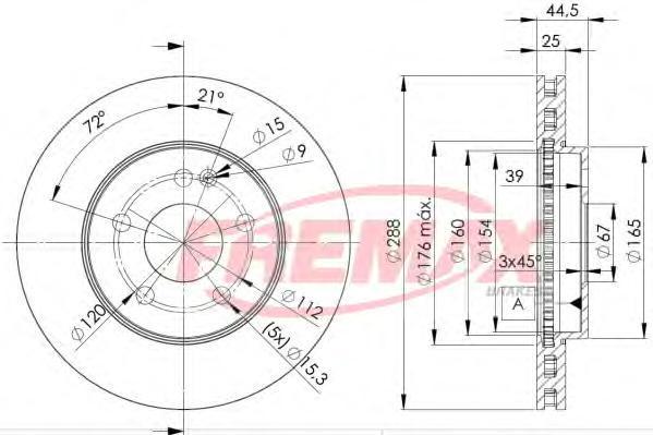 Диск тормозной Fremax, 2 шт. BD-0117BD-0117