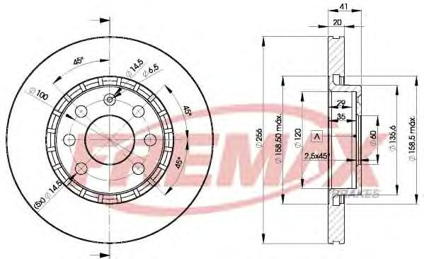 Диск тормозной Fremax, 2 шт. BD-9046BD-9046