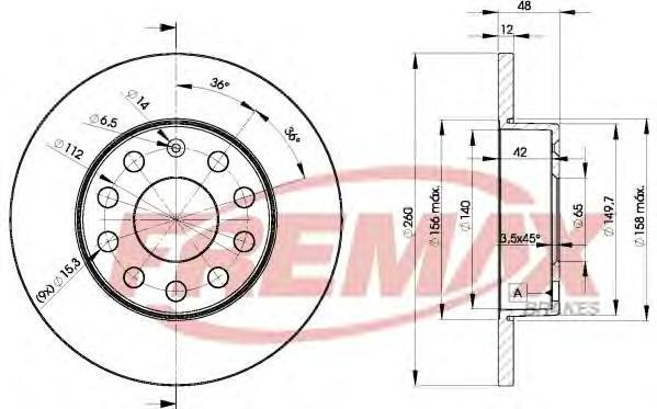 Диск тормозной Fremax, 2 шт. BD-5310BD-5310