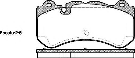 Колодки тормозные дисковые Remsa, комплект. 127900127900