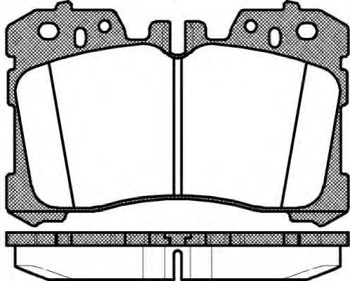 Колодки тормозные дисковые Remsa, комплект. 132000132000