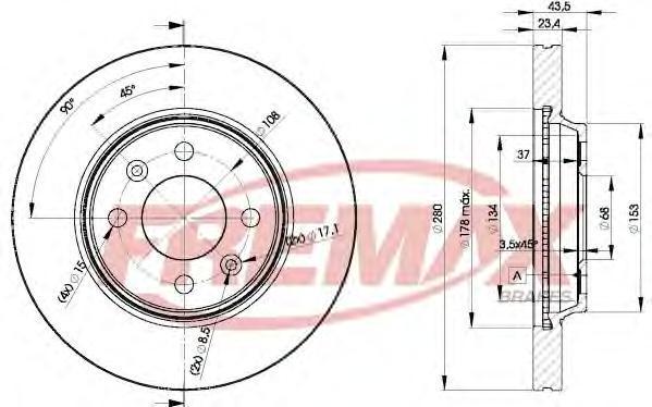 Диск тормозной Fremax, 2 шт. BD-5550BD-5550