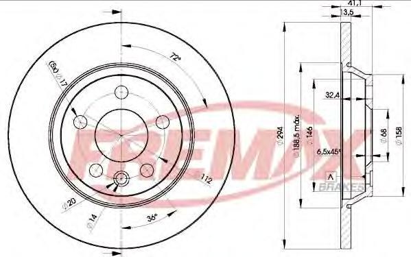 Диск тормозной Fremax, 2 шт. BD-5609BD-5609