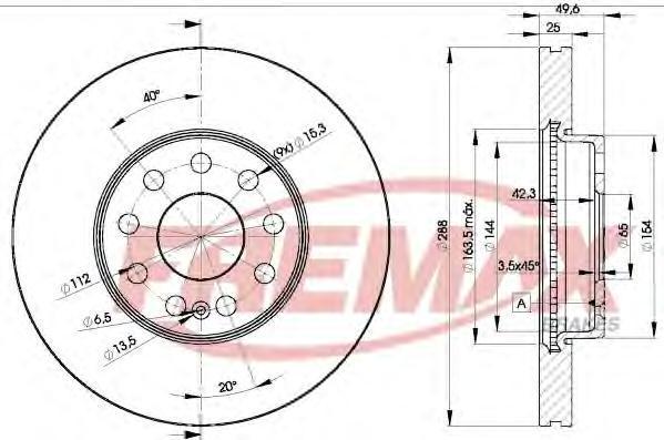 Диск тормозной Fremax, 2 шт. BD-5615BD-5615