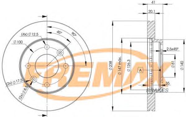 Диск тормозной Fremax, 2 шт. BD-6572BD-6572