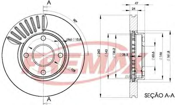 Диск тормозной Fremax, 2 шт. BD-6784BD-6784