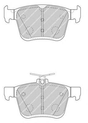 Колодки тормозные дисковые Ferodo, комплект. FDB4434FDB4434