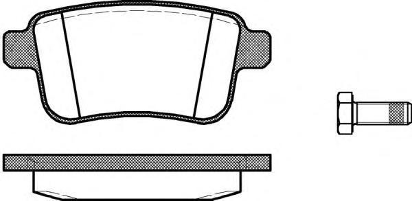 Колодки тормозные дисковые Remsa, комплект. 135200135200