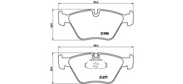Колодки тормозные дисковые Brembo, комплект. P06065P06065