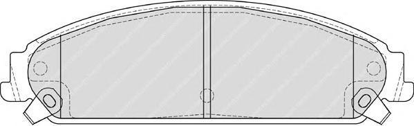 Колодки тормозные дисковые Ferodo, комплект. FDB4078FDB4078