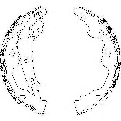 Колодки тормозные дисковые Remsa, комплект. 418700418700