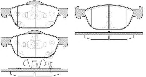 Колодки тормозные дисковые Remsa, передние. 155202155202